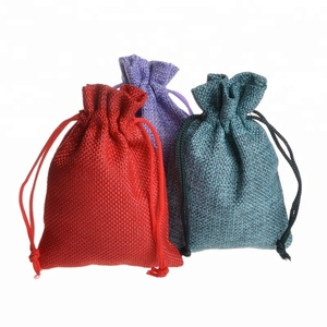 Wholesale In Stock Eco-friendly Jute Christmas Bag Jute Bag Cocoa Beans Packaging Jute Jewelry Bag