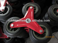 stair climbing wheels with plastic rim trolley wheel 6 inch solid rubber wheel