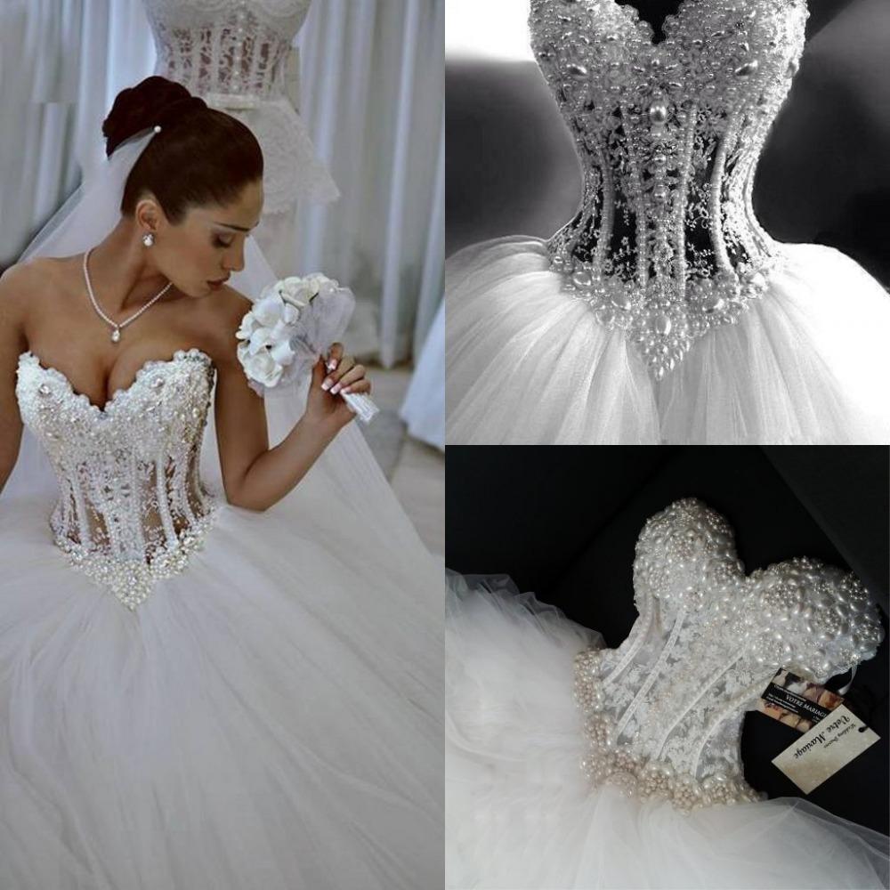 Sweetheart strapless princess wedding dresses