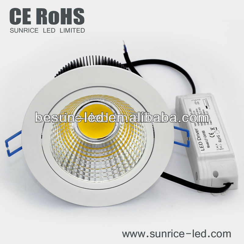 180 degree adjustable 10w led spotlight led downlight 1000 lumen