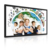 Smart 65 inch infrared interactive whiteboard with wheels and Built in i3 i5 i7 cpu all in one