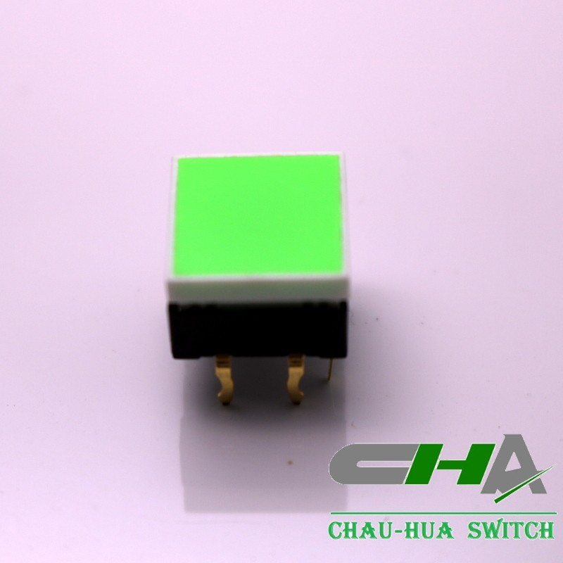 CHA Export 12X12mm LED tact switch 50mA 12VDC SPST