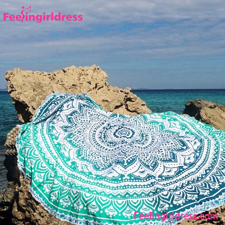 Free Shipping Cheap Sexy Printed Round Custom Beach <strong>Towels</strong>