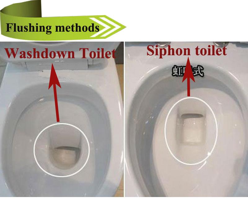 HS-8045 item keramik kamar mandi digunakan populer one piece berwarna biru toilet