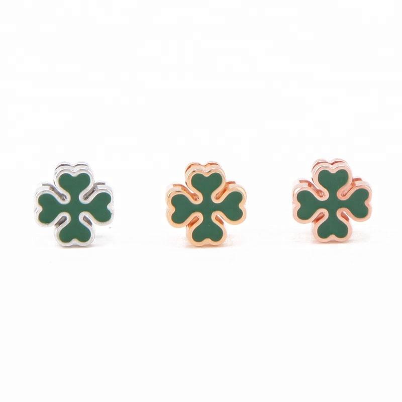 NEW Silver Lucky Clover Leaf Sunshine Green Murano Beads European Charm Bracelet