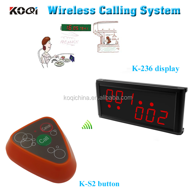 Touching call button Wireless paging system