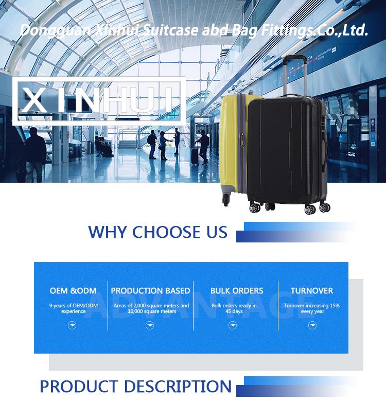 Chariot à Bagages De haute Qualité Bagages Sac De Voyage ABS personnalisé conception valises XHA056