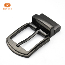 wholesale zamak 5 men's turning pin buckles for reversible belt