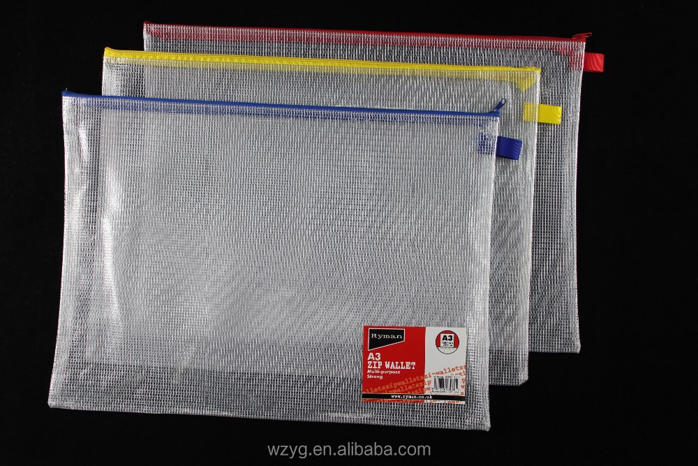 A3 zipper plastic book cover