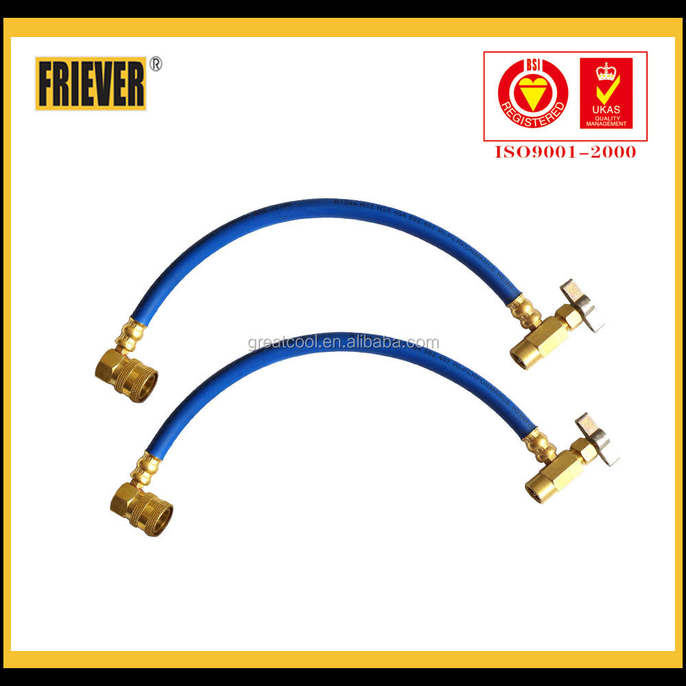 FRIEVER charging hose with ball valve and quick coupler/charging hose