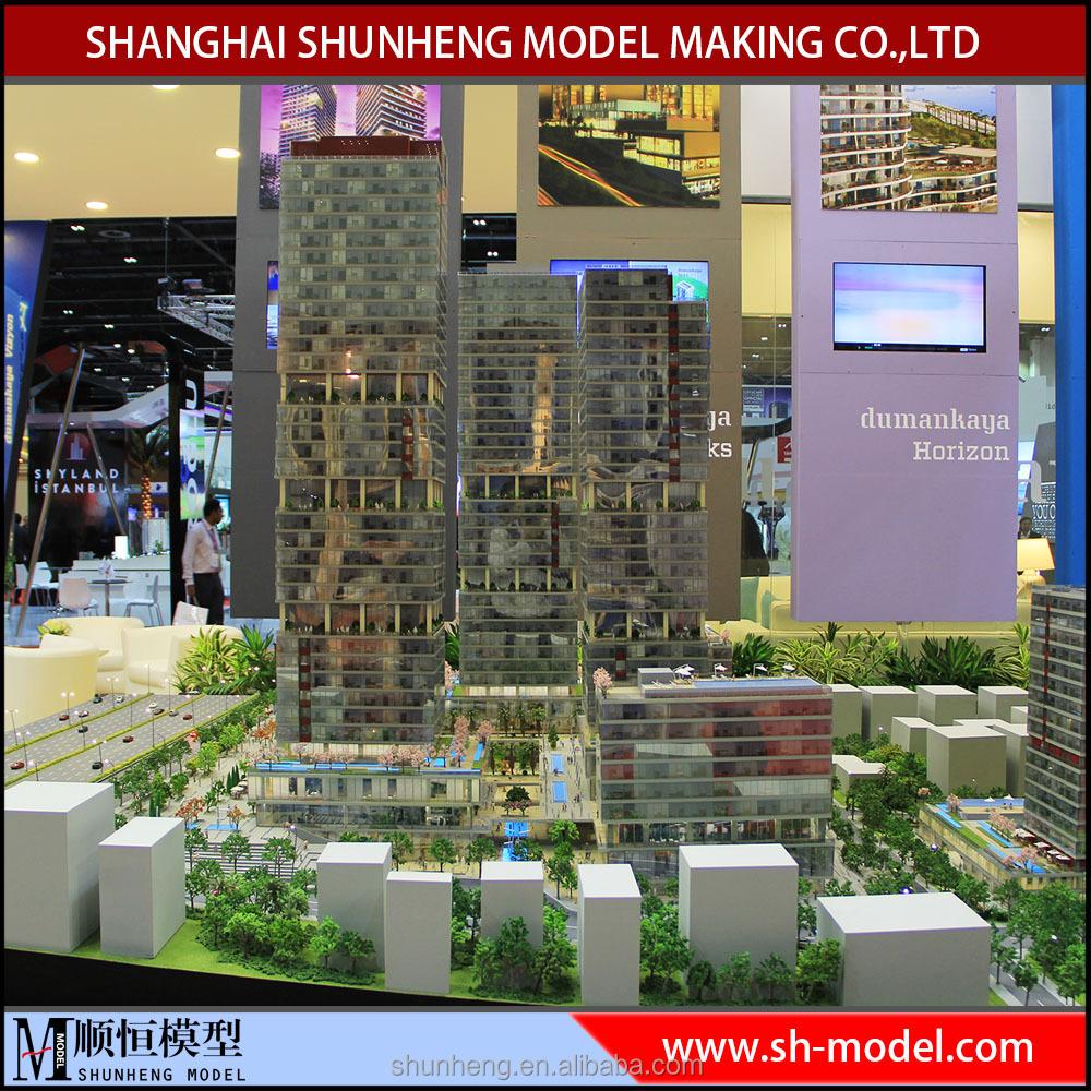 Tall building digital scale modelsmodern house model making miniature building models