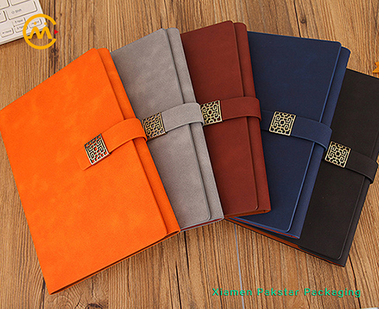 Custom PU leather cover executive dairy paper notebook