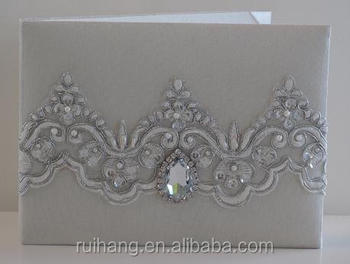Customized Wedding Cards With Ribbon Silk Buckle Simple Classical Elegant  Wedding Invitations