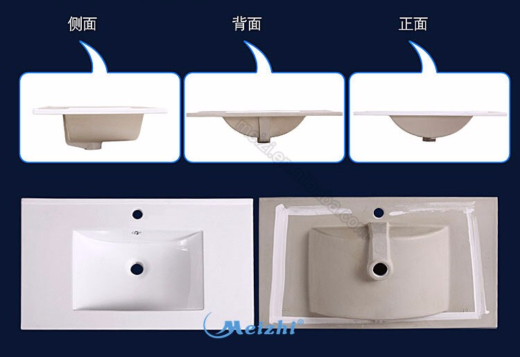 600-1000mm Bathroom ceramic rectangular cabinet wash basin