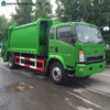 China new diesel engine Sinotruk HOWO small garbage truck capacity