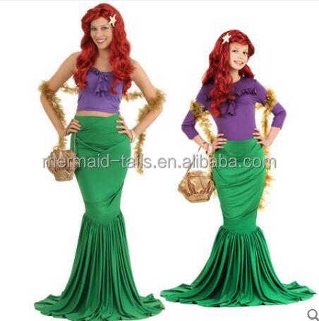 Ariel Little Mermaid traje de Navidad princesa sirena Cosplay