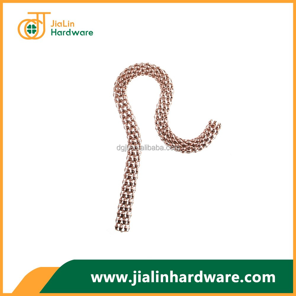 OEM custom-made high quality surface mirror effect dustfree plated claw chain