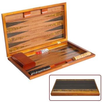 wooden backgammon checker chess game set custom backgammon board - Backgammon Game