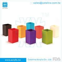 Colorful Tooth Brush Holder Tumbler Lotion Dispenser Soap Dish Acrylic Plastic Bathroom Accessory Set