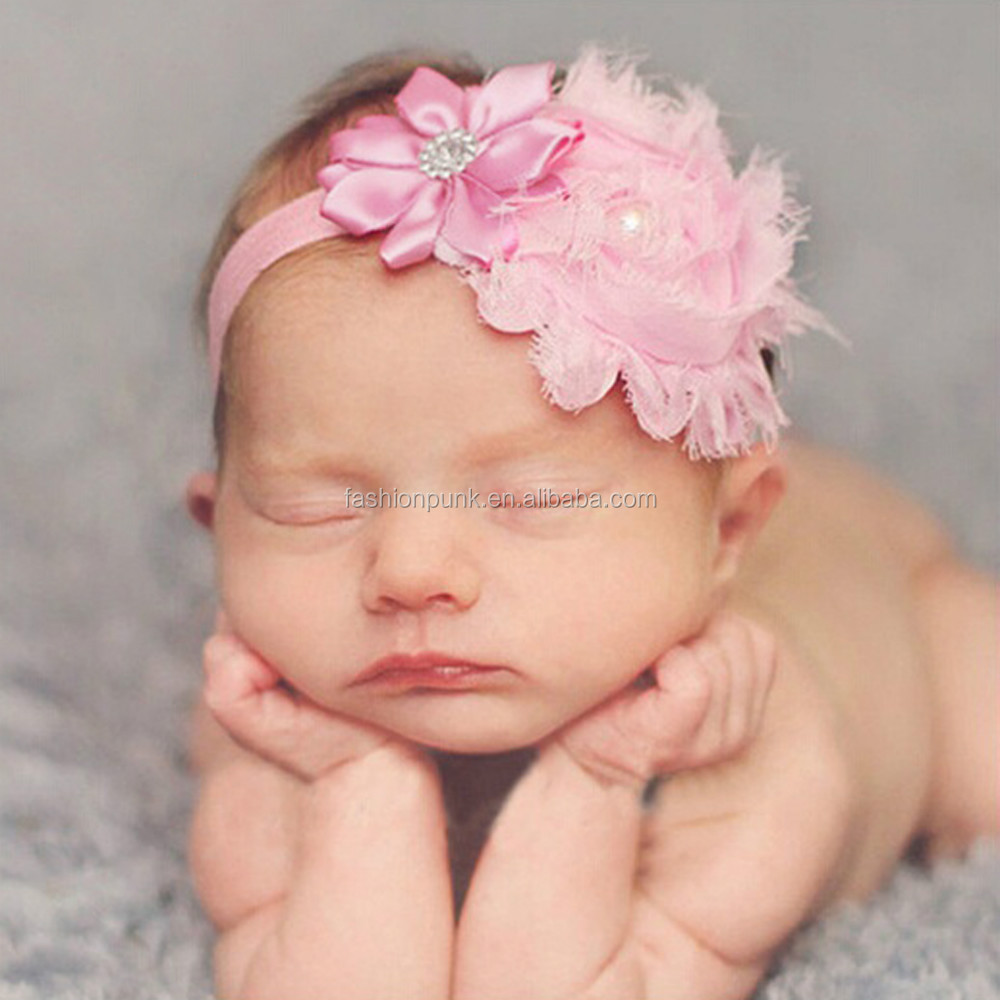 Newborn Baby Girls Flower Soft Elastic Hairband Headwear <strong>Hair</strong> <strong>Accessories</strong>
