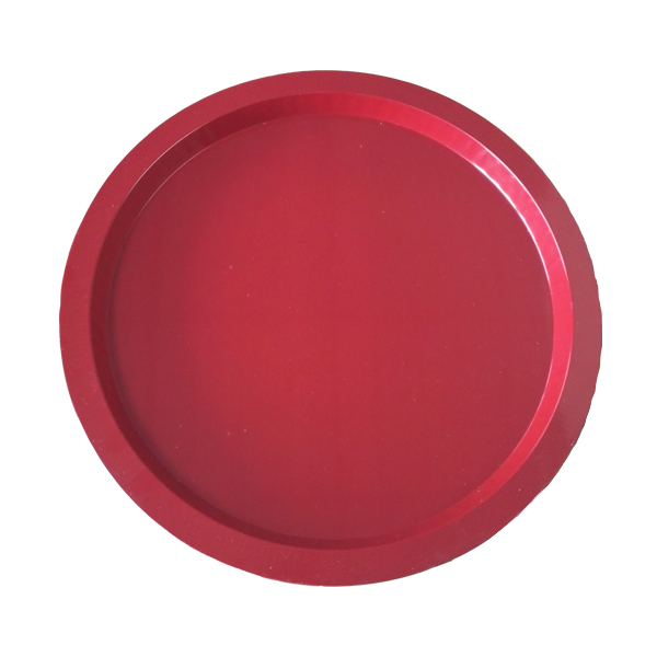 hotel food service round tin trays