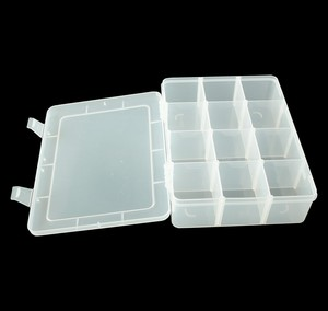 12-components clear plastic key box storage