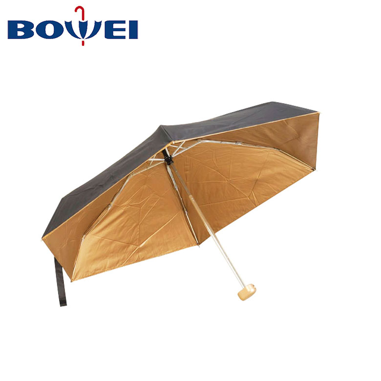 Promotional new design logo Stitching color custom double layer  3 fold umbrella  manufacturer China