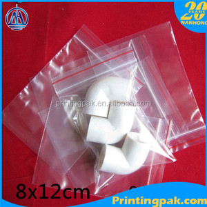 8x12cm Jewelry Ziplock Zip Zipped Lock Reclosable Plastic Poly Clear Jewelry Packaging Pouches Bags