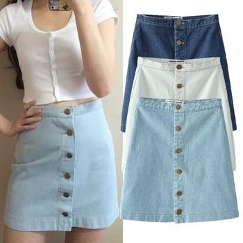 72e7d5f40 C87043A China al por mayor de moda dama jean Faldas Mujer denim stretch  faldas