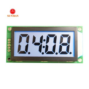 Custom chronograph lcd display with viarous backlight SMS0408G