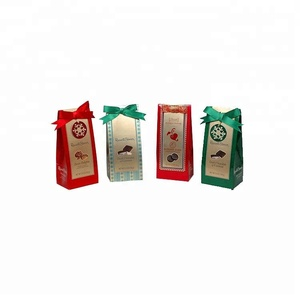 Small water resistant biodegradable small paper gift bags with handles making machine