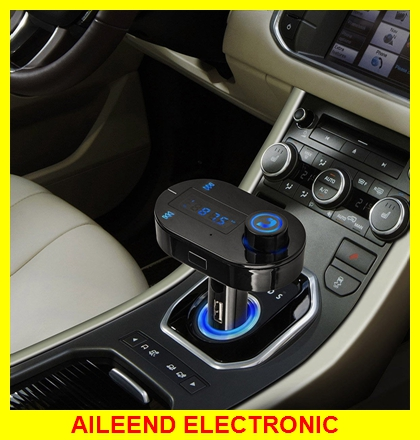Hot Sale T9S Bluetooth Mobil Mp3 Player Nirkabel Fm Transmitter FM Modulator Mobil Kit A2DP USB Charger