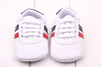 Fashion plain white baby shoes cheap soft sole baby pu leather shoes boy casual crib shoes