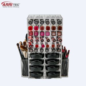 acrylic cosmetic organizer kits makeup mac cosmetic display stand