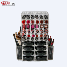 retail shop multifuction acrylic cosmetic organizer kits makeup mac cosmetic display stand