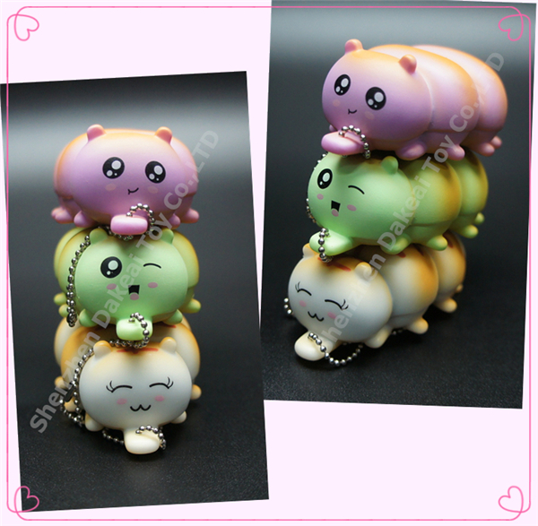 Artificial bread fake food customized stuffed Caterpillar bread toys