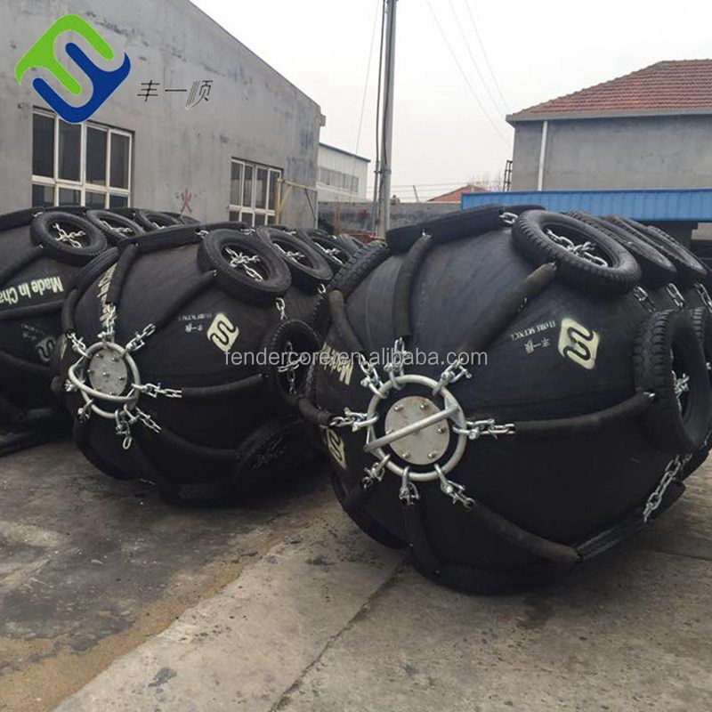 Net type inflatable marine rubber fender made of natural rubber