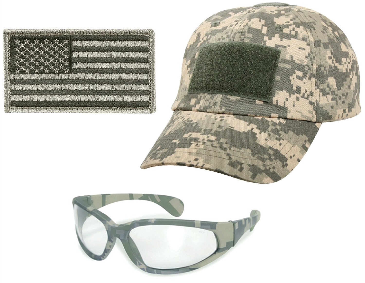 04affca7 Ultimate Arms Gear Tactical Combo Including Clear Lens Carbonate ACU Army  Digital Camo Military Camouflage UV400