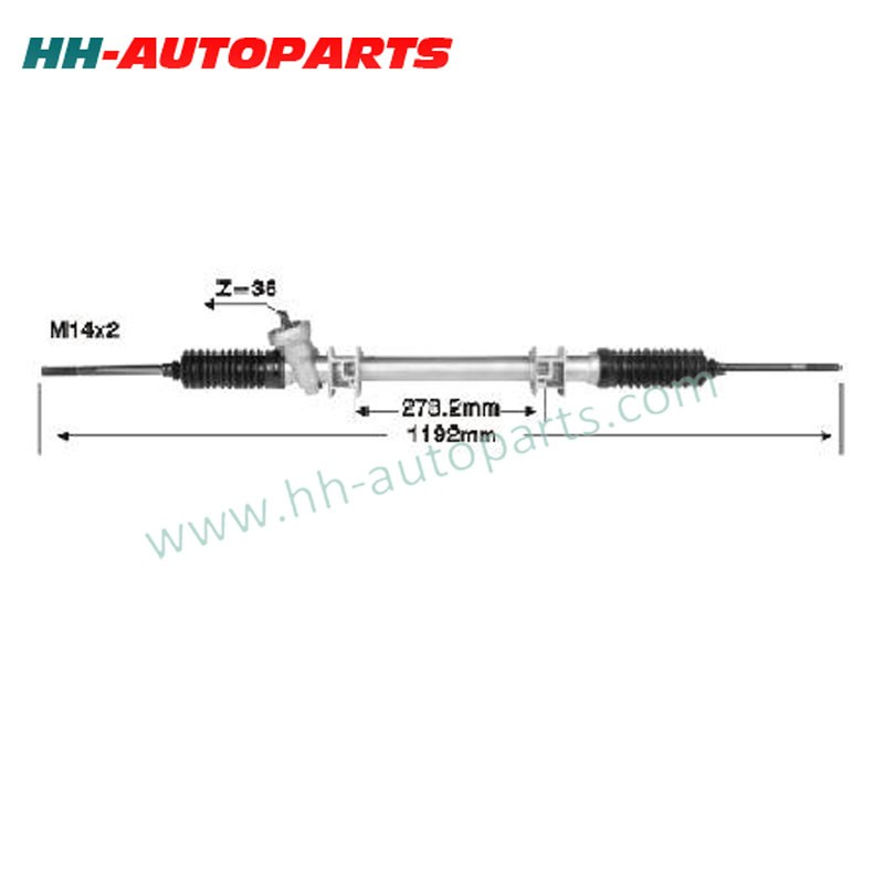 Gear Rack Pinion 1229324-7-1205650, 1229324-7/1205650 LHD for VOLVO Power Steering Rack And Pinion Gear