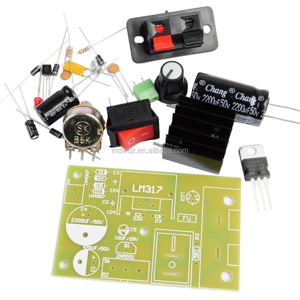 Lm317 Adjustable Ac Dc To Voltage Regulator Step Down Power Supply Buck Converter Module Kit