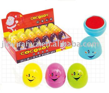 Egg-shaped toy stamp for kids