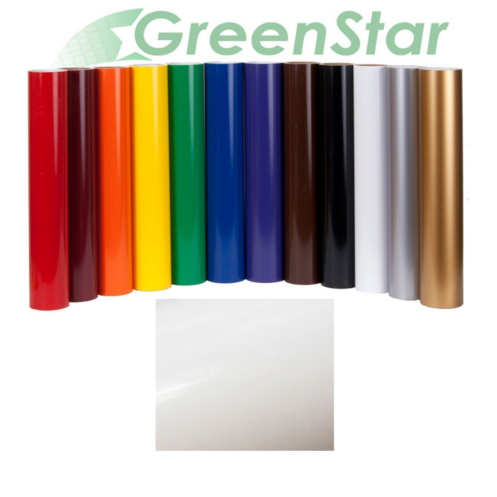"""GreenStar Sign Vinyl 24"""" x 10Yd, Graphics and Lettering for Interior & Exterior - White"""
