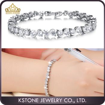 gros bracelet femme argent