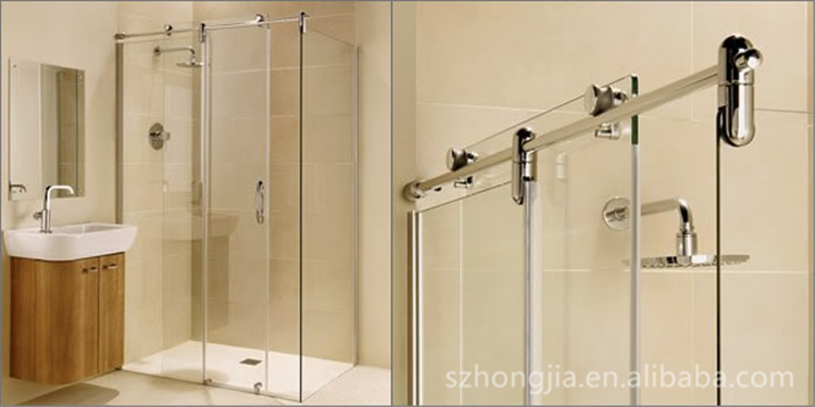 custom tempered bathroom  shower glass door