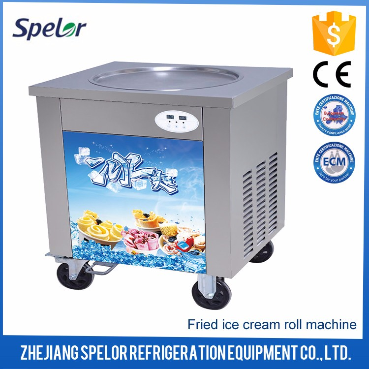 Freely Thailand Rolled Fried Ice Cream Machine