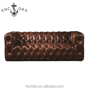 Comfortable chesterfield couch designs vintage leather tufted sofa
