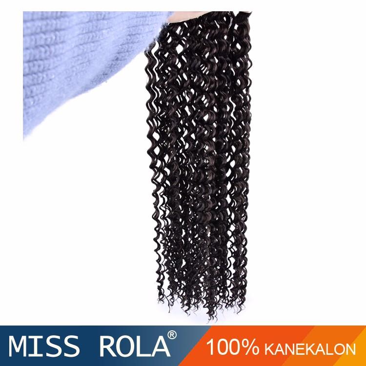 Trenzado de cabello sintético pelo Kanekalon crochet giro trenzado ...