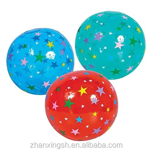 Neweast Best Selling Colorful Star Eco-friendly Small PVC Inflatable Beach Ball