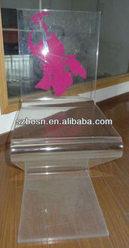 Z Shaped Acrylic Dining Chair;acrylic Chair;perspex Chair;