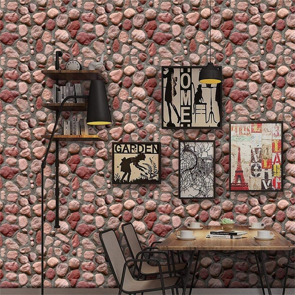 Wall Stickers, 3D Wall Paper Brick Stone Effect Self-adhesive Wall Sticker Room Wall Stickers